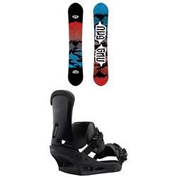 GNU T2B Snowboard + Burton Custom Snowboard Bindings