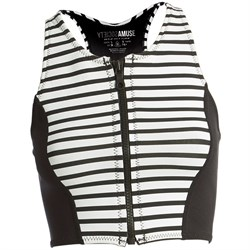 Amuse Society Laka Striped Cropped Neoprene Vest - Women's