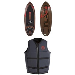 Inland Surfer Red Rocket Wakesurf Board ​+ Follow Surf Edition Plus Wake Vest 2019