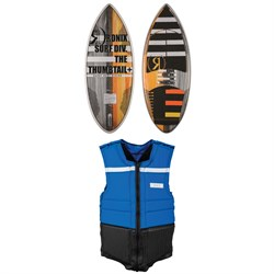 Ronix Thumbtail​+ Technora Wakesurf Board ​+ Parks Athletic Cut Impact Vest