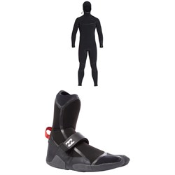 Billabong 6​/5 Furnace Carbon Ultra Hooded Wetsuit ​+ 5MM Furnace Carbon X Split Toe Boots