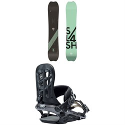Slash Brainstorm Snowboard 2019 ​+ Rome 390 Boss Snowboard Bindings 2018