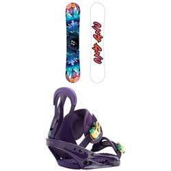 GNU Asym Velvet C2 Snowboard - Blem - Women's + Burton Citizen Snowboard Bindings - Women's 2019