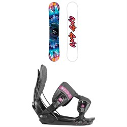 GNU Asym Velvet C2 Snowboard - Blem - Women's + Flow Minx Fusion Snowboard Bindings - Women's 2019