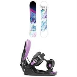GNU Chromatic BTX Snowboard - Blem - Women's + Flow Haylo Snowboard Bindings - Women's 2019