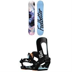 Bataleon Feelbetter Snowboard - Women's + Switchback Forever Snowboard Bindings - Women's 2019