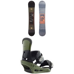 Rome Reverb Rocker SE Snowboard 2018 + Burton Custom Snowboard Bindings