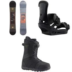Rome Reverb Rocker SE Snowboard 2018 + Burton Custom Snowboard Bindings  + Highline Boa Snowboard Boots 2017