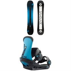 Rossignol Sawblade Snowboard + Burton Freestyle Snowboard Bindings 2019