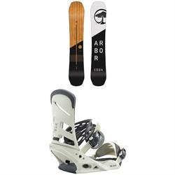 Arbor Coda Rocker Snowboard + Burton Mission Snowboard Bindings