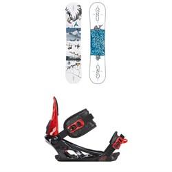 GNU Recess Asym BTX Snowboard - Boys' + K2 Vandal Snowboard Bindings - Big Boys'