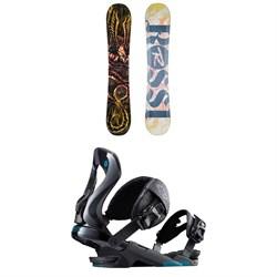 Rossignol Angus Snowboard 2018 + Rossignol Cobra Snowboard Bindings