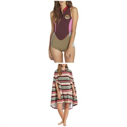 Billabong Sleeveless Springsuit ​+ Hooded Poncho Towel - Women's
