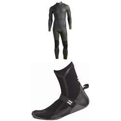 Billabong 3​/2 Furnace Revolution Glide Chest Zip Wetsuit ​+  3mm Furnace Carbon X Split Toe Boots