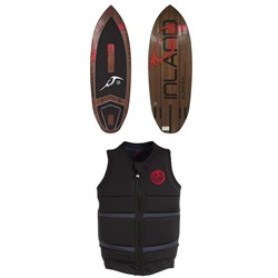 Inland Surfer Red Rocket Wakesurf Board 2019 ​+ Follow Surf Edition Wake Vest 2019