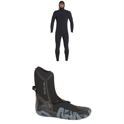 XCEL 5.5​/4.5 Comp X TDC Hooded Wetsuit ​+ XCEL 7mm Drylock Celliant Round Toe Boots