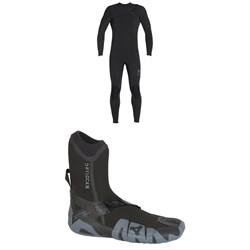 XCEL 4/3 Comp X TDC Wetsuit 2018 + XCEL 5mm Drylock Split Toe Boots