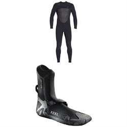 XCEL 4​/3 Drylock Celliant Wetsuit ​+ XCEL 3mm Drylock Celliant Round Toe Boots