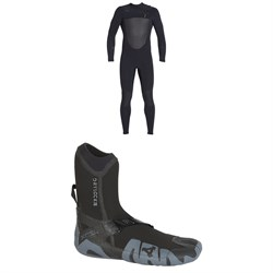 XCEL 4​/3 Drylock Celliant Wetsuit ​+ XCEL 5mm Drylock Split Toe Boots