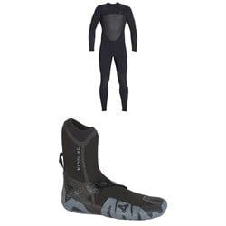 XCEL 4/3 Drylock Celliant Wetsuit + XCEL 5mm Drylock Split Toe Boots