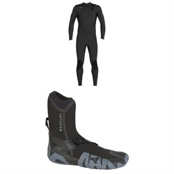 XCEL 4​/3 Comp Thermo Lite Wetsuit ​+ XCEL 5mm Drylock Split Toe Boots