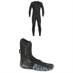 XCEL 4/3 Comp Thermo Lite Wetsuit + XCEL 5mm Drylock Split Toe Boots
