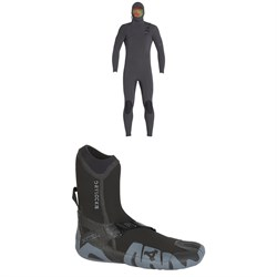 XCEL 4.5​/3.5 Comp X TDC Hooded Wetsuit ​+ XCEL 5mm Drylock Split Toe Boots