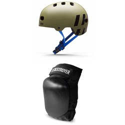 Destroyer Multi-Impact Skateboard Helmet ​+ Destroyer P Series Skateboard Knee Pads