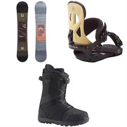 Rome Reverb Rocker SE Snowboard + Rome Arsenal Snowboard Bindings  + Burton Highline Boa Snowboard Boots 2017