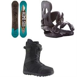 Rome Crossrocket Snowboard + Rome Arsenal Snowboard Bindings  + Burton Highline Boa Snowboard Boots 2017