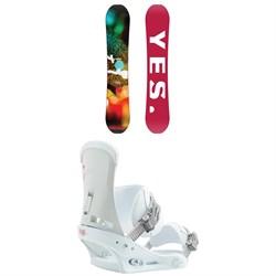Yes. Libre Snowboard + Burton Custom Snowboard Bindings