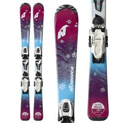 Nordica Little Belle Skis + Jr 4.5 Bindings - Girls'