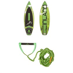 Inland Surfer Green Room Wakesurf Board ​+ Proline x evo LGS Surf Handle w​/ 25 ft Air Line