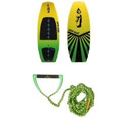 Idol Surf Shovel Wakesurf Board ​+ Proline x evo LGS Surf Handle w​/ 25 ft Air Line