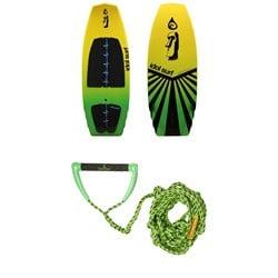 Idol Surf Shovel Wakesurf Board + Proline x evo LGS Surf Handle w/ 25 ft Air Line