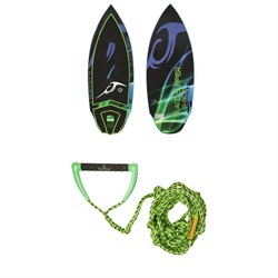 Inland Surfer G-Ride 137 Wakesurf Board ​+ Proline x evo LGS Surf Handle w​/ 25 ft Air Line 2019