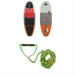 Liquid Force El Guapo Wakesurf Board + Proline x evo LGS Surf Handle w/ 25 ft Air Line