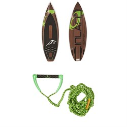 Inland Surfer Green Room Wakesurf Board 2019 ​+ Proline x evo LGS Surf Handle w​/ 25 ft Air Line