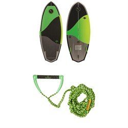 Hyperlite Shim Wakesurf Board ​+ Proline x evo LGS Surf Handle w​/ 25 ft Air Line