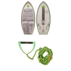 Liquid Force Dart Wakesurf Board 2019 + Proline x evo LGS Surf Handle w/ 25 ft Air Line