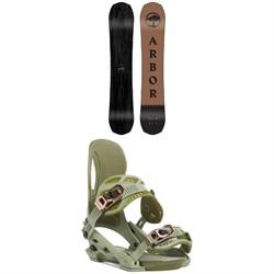 Arbor Element Black Rocker Snowboard + Arbor Cypress Snowboard Bindings