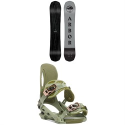 Arbor Element Black Camber Snowboard ​+ Arbor Cypress Snowboard Bindings