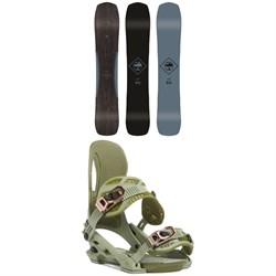 Arbor Crosscut Rocker Snowboard + Arbor Cypress Snowboard Bindings