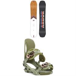 Arbor Shiloh Camber Snowboard + Arbor Cypress Snowboard Bindings