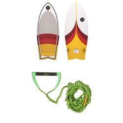 Connelly Cuda Wakesurf Board + Proline x evo LGS Surf Handle w/ 25 ft Air Line
