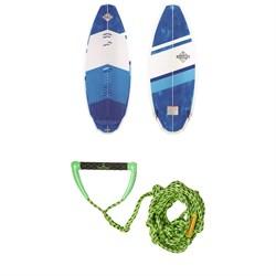 Connelly Bentley Wakesurf Board + Proline x evo LGS Surf Handle w/ 25 ft Air Line