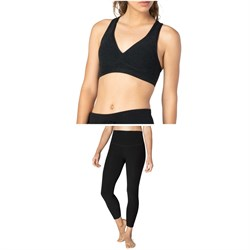 Beyond Yoga Spacedye Lift Your Spirits Bra + Spacedye Caught In The Midi High Waisted Leggings - Women's