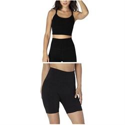 Beyond Yoga Spacedye Slim Racerback Cropped Tank Top + Spacedye High-Waisted Biker Shorts - Women's