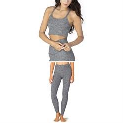 Beyond Yoga Spacedye Slim Racerback Cropped Tank Top + Spacedye Take Me Higher Long Leggings - Women's