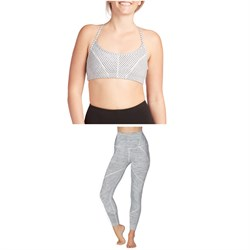 Beyond Yoga True To Stripe Bra + True To Stripe High Waisted Midi Leggings - Women's